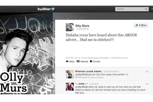 Facebook update: Olly Murs