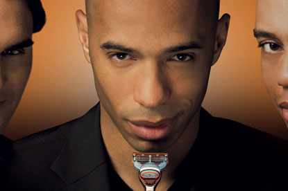 Thierry Henry...brand ambassador for Gillette