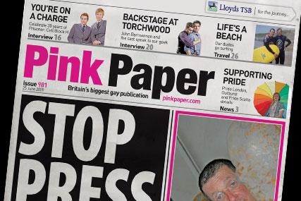 Pink Paper: ceasing publication