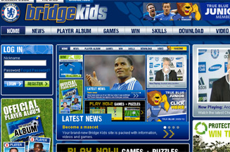 Chelsea FC relaunches Bridge Kids site