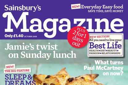 Sainsbury's Magazine... new editor