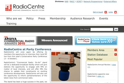 RadioCentre: quit digital radio discussions