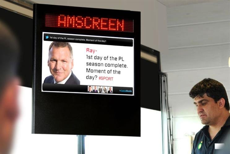 Amscreen: to offer spsort and entertainment content on its digital screen network