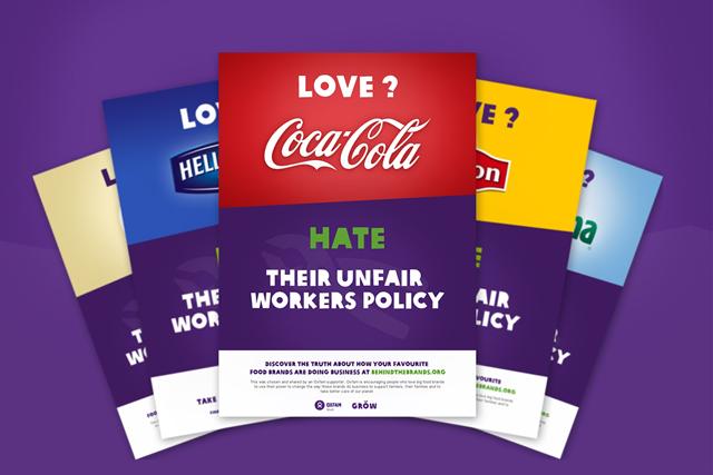 Oxfam International: unveiled ethical ranking