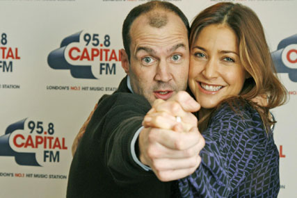 Capital's Johnny Vaughan and Lisa Snowdon