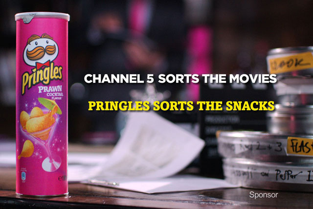 Pringles: signs film-sponsorship deal with Channel 5