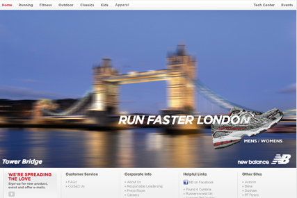 New Balance website: Arnold Worldwide creative account