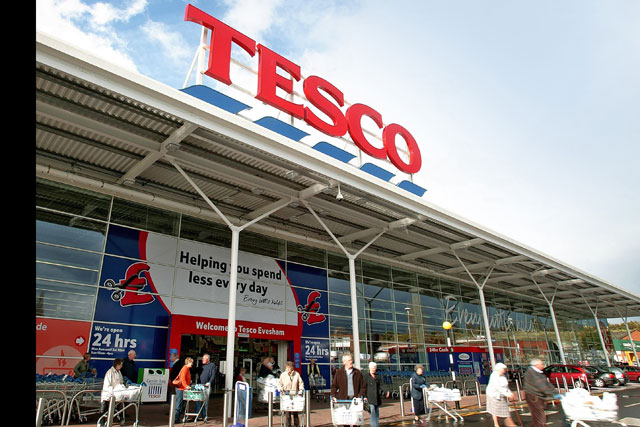 Tesco: third-quarter figures reveal fall in like-for-like sales