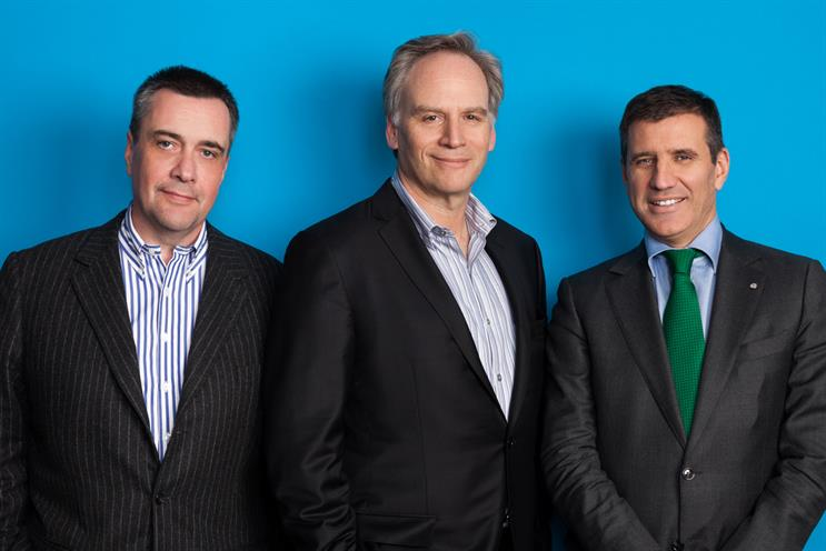 Lindner, Diamond and Martinez (l-r)…the trio will take charge of McCann Worldgroup following Brien's dismissal. Credit: Robert Wright