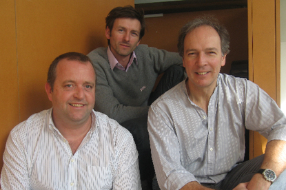 Geoff Stebbings pictured with Geoff Stickler and Dominic Seymour