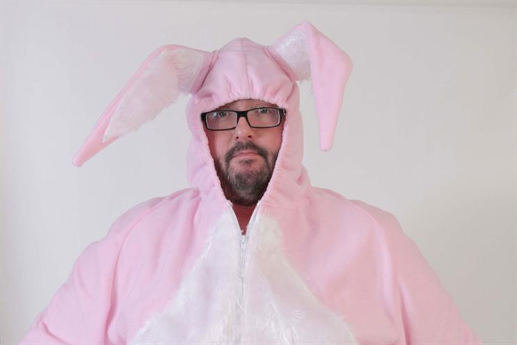 Dotty Bingo: launch ad features actor Ewen Macintosh in pink rabbit costume