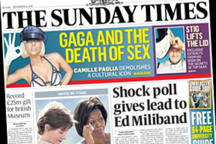 The Sunday Times: introduces price hike