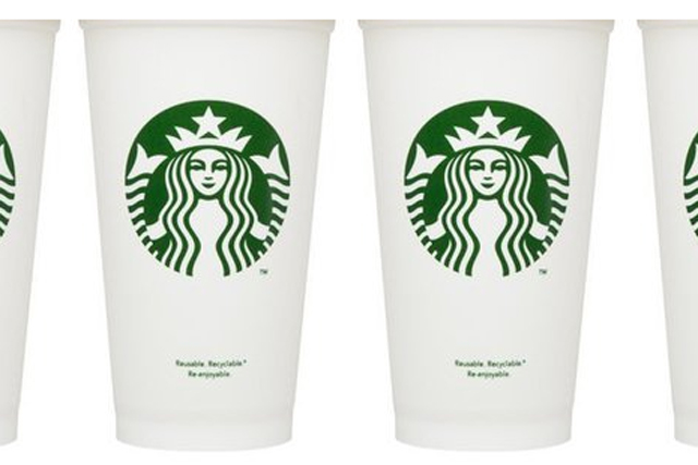 Starbucks: introduces reusable cup