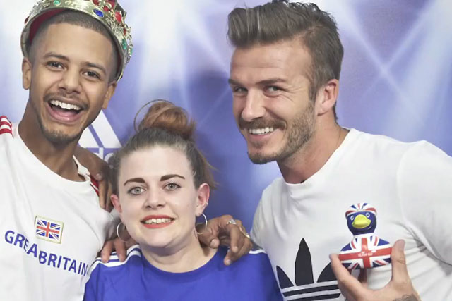 David Beckham: stars in the adidas 2012 'photo booth' campaign