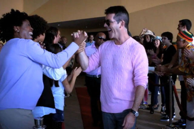 Simon Cowell: as seen in trailer for US version of The X Factor