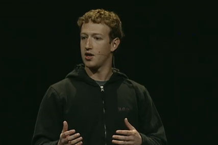 Mark Zuckerberg at this year's F8 conference