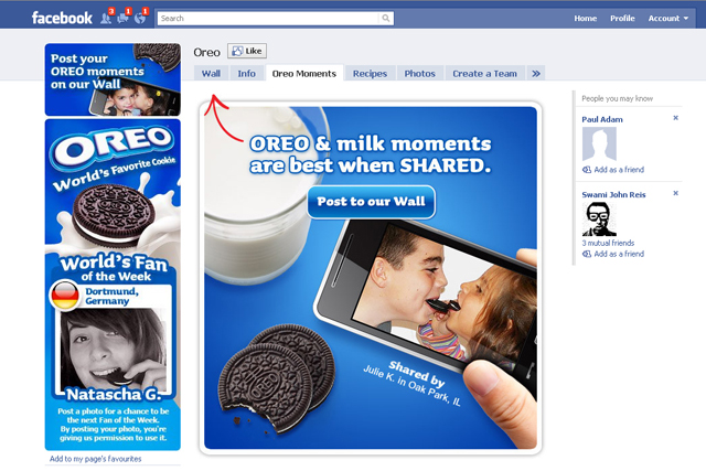 Oreo: looks to set Facebook record