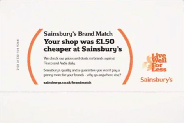 Sainsbury's: ASA bans Brand Match ad campaign in its present form