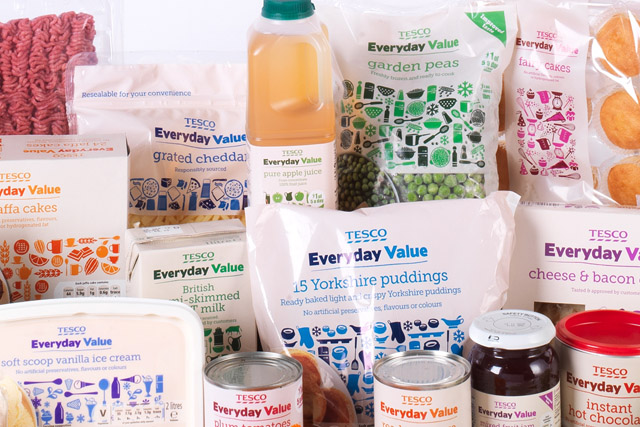 Tesco: rebranded Everyday Value range cited as helping to boost sales