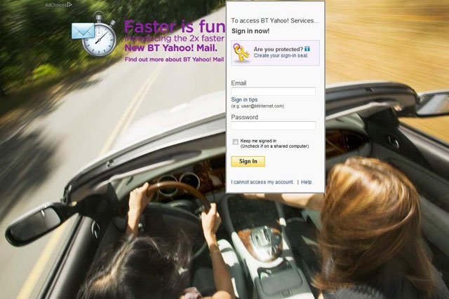 Yahoo: 'faster is funner' BT Mail ad