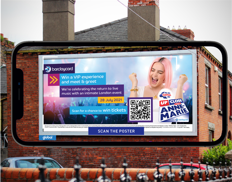 Capital Up Close billboards will enable smartphone users to unlock immersive creative