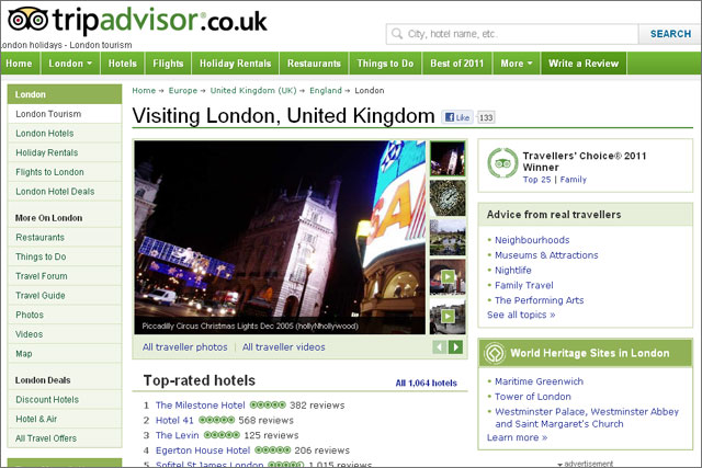 TripAdvisor: travel site to be investigated by ASA