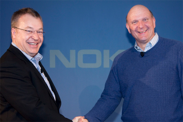 Stephen Elop and Steve Ballmer: Nokia and Microsoft chiefs agree partnership