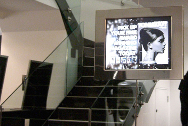 Hub Digital Networks: digital signage for client Tony & Guy