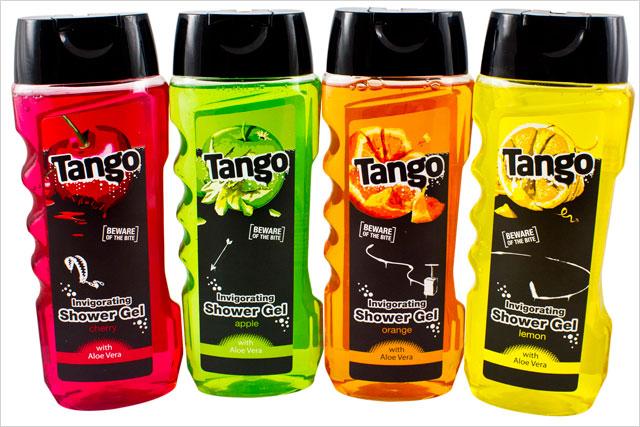 Tango: set to release shower gel range