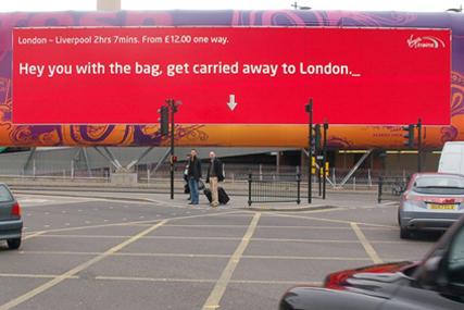 Elvis' Virgin Trains outdoor campaign