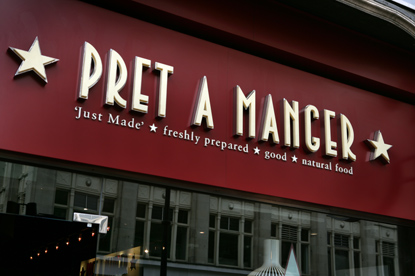 Pret a Manger... first to pay