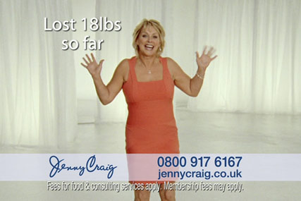 Jenny Craig: Cheryl Baker has fronted its UK advertising