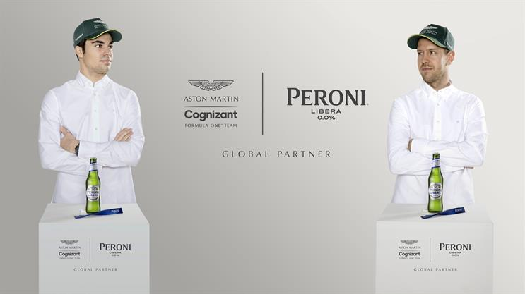 Aston Martin Cognizant drivers: Stroll (left) and Vettel