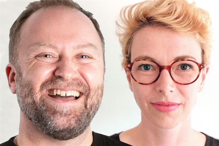 Conscious Advertising Network co-founders: Jake Dubbins and Harriet Kingaby