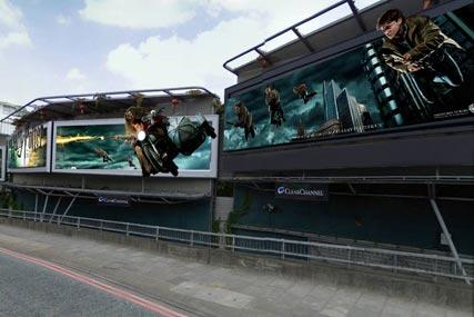 Warner Bros: 3D outdoor site promotes latest Harry Potter film