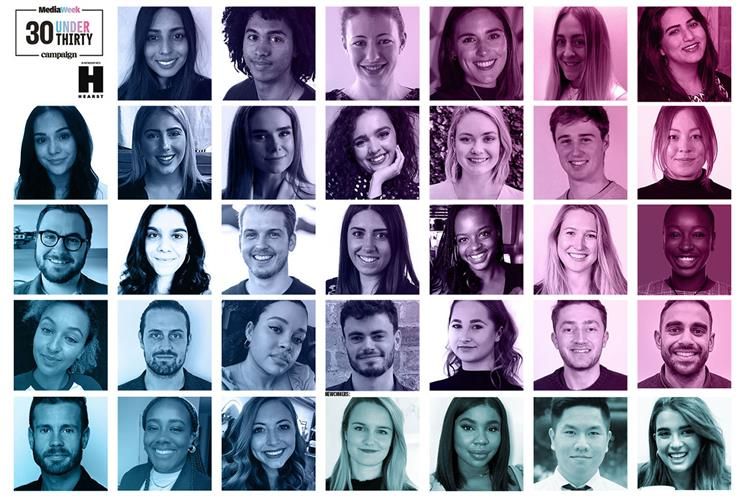 Media Week 30 Under 30 main winners: joined by four more names in a new category, 30 Under 30 Newcomer (pictured right-hand side of the bottom row)