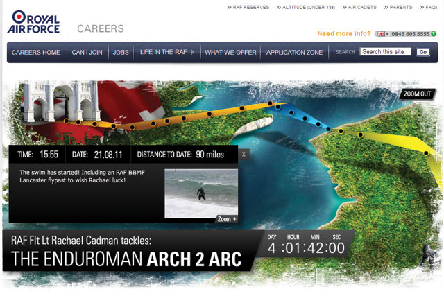 Royal Air Force: LIDA integrated the service's 'Be part of the story' campaign into an improved careers website