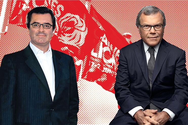 De Nardis (l) and Sorrell: the OMD and WPP bosses were involved in last year's voting row