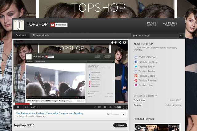 TopShop: London Fashion Week activity