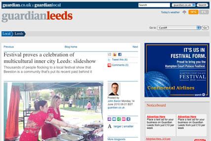 Hyperlocal publishing: Guardian News & Media experimenting