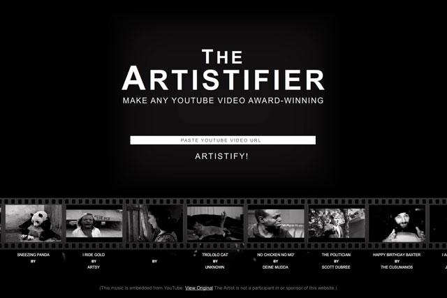 The Artisifier website