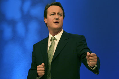 David Cameron...Tories reconsidering government advertising pledge