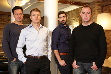 AMV BBDO's creative partners: Steve Jones, Paul Brazier, Thiago De Moraes and Martin Loraine