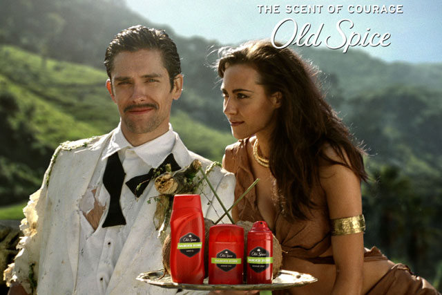 Old Spice recent campaigns have embraced TV, online and social media