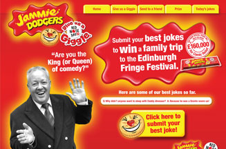 Cheggers enlists 'giggle booths' in Jammie Dodger Red Nose promotion