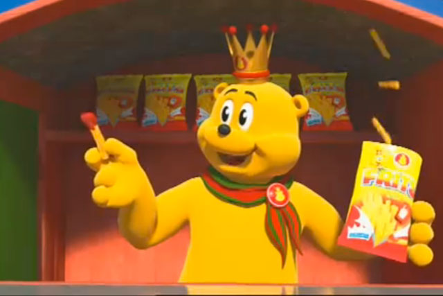 Pom-Bear: the Intersnack brand launched a 3D cinema ad last year