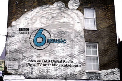 6 Music…the BBC has promoted its digital radio stations