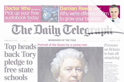 Daily Telegraph: transparent cover wrap is a first