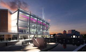 A CGI of how the new entrance will look