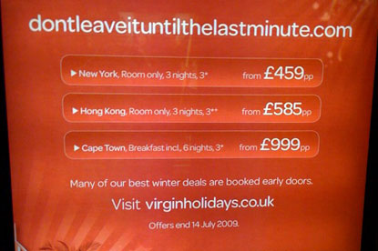 Virgin Holidays...copyright claim by Lastminute.com